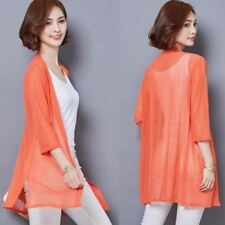 Vintage Fashion Large Size Chiffon Fabric Polyester Material Cardigan for Women