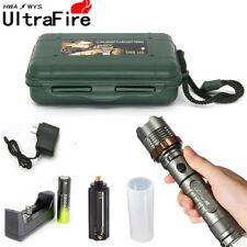 Tactical Police 12000LM XM-L T6 LED 5Mode 18650 Flashlight Torch Battery*Charger