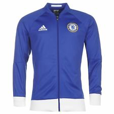 adidas Chelsea FC Track Jacket Mens White/Blue Football Soccer Tracksuit Top