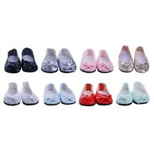 Trendy Doll Girl Flats Shoes Sneakers for 18'' American Girl Doll Clothes Dress