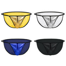 Men Underwear Metallic Brief Boxer Bikini Shorts Lingerie Bulge Pouch Underpants