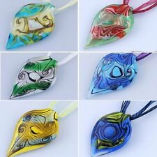 Fashion Lampwork Glass Wide Vortex Pendant Necklace Jewelry Family Summer Gift