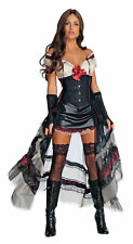 Jonah Hex Lilah Adult Women's Costume Black long sheer skirt fancy dress Rubies