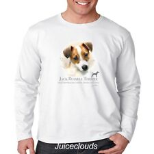 Jack Russel Terrier Long Sleeve Shirt Puppy Pet Rescue Dog Owner Men's Tee