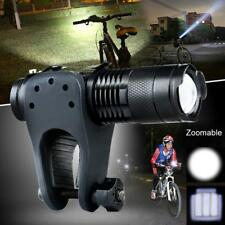 Bike Bicycle Torch Clip Holder Adjustable Focus LED Flashlight AA14500 lamp CREE