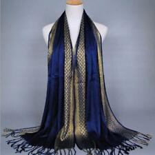 MISS YU Multi-color optional golden thread scarf long tassel scarf Muslim scarf