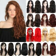 Bright Blonde Black Cosplay Full Wigs Long Wavy Straight Halloween Party Stage y