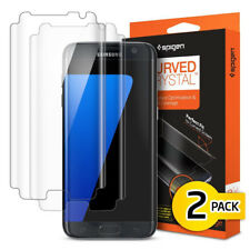Samsung Galaxy S7 S7Edge Screen Protector Protection Flim Spigen Curved Crystal