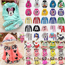 Cartoon Kids Baby Girls Boys Mickey Minnie Mouse Hoodie Coat Jacket Tops Outfits
