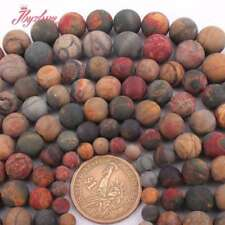 """6,8,10,12mm Natural Round Multicolor Frost Natural Picasso Jasper Loose Beads15"""""""