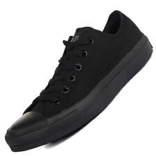 Mens, Womens Converse All Star Low All Black Canvas Pumps Trainers Mens Size