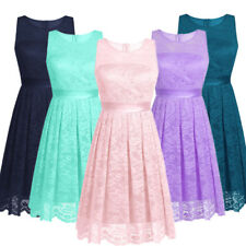 Women's Floral Lace Bridesmaid Mini Dress Short Party Evening Cocktail Ball Prom
