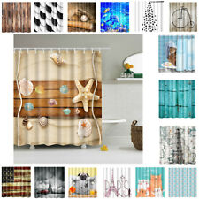 "71""x71"" Polyester Fabric Shower Curtain Set Bathroom Decoration 16 Types"