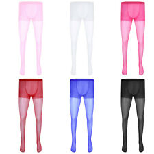 Mens Sheer Pantyhose Tights Underwear Stocking Stretchy Lingerie See Through HOT