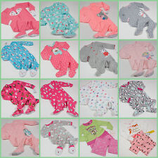 NWT GIRLS FOOTED PAJAMAS FLEECE 6M 18M 24M 2T 3T 4T 5T  U PICK NEW CARTERS
