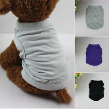 XS-XL Cotton Pet Clothes Dog T Shirt Beagle Puppy Bulldog Shirt Vest Apparel New