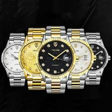 Men Tevise Fashion Diamond Automatic Mechanical Stainless Steel Wrist Watch