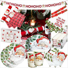 Talking Tables Christmas Party Tableware Supply Xmas Decoration Santa Red White