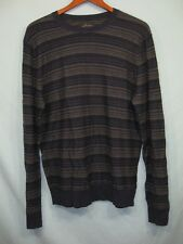 NWT Marc Anthony Blue and Gray Stripe Men's Crew Neck Slim Fit Sweater