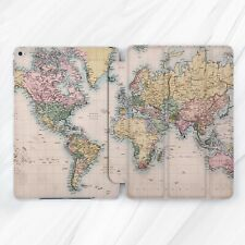 Vintage World Map Atlas Smart Cover Case Stand For Apple iPad Pro Air Mini 2 3 4