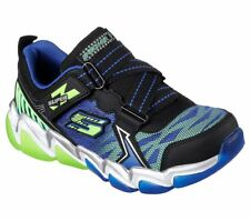 Boys Youth SKECHERS Blue/Green SKECH-AIR Casual Sneakers Shoes 97416 NEW