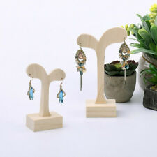 Unfinished Wooden Jewellery Display Stand Unpainted Wood Earring Holder Rack