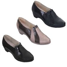 Ladies Slip On Patent Snake Faux Leather Padded Low Wedge Loafers Shoes
