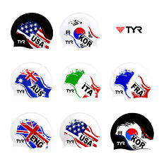 TYR Nation Flags Swim Cap Adult Unisex Silicone Swimming Hat Pool Caps