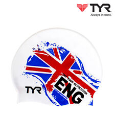TYR England Nation Flags Swim Cap Adult Unisex Silicone Swimming Hat