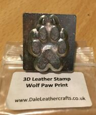 3D Wolf Paw Print Leather Stamp - CRAFT CARVING EMBOSSING