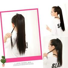 Wrap Around Clip In on Ponytail Hair Extensions Straight Ponytail Hair Piece J