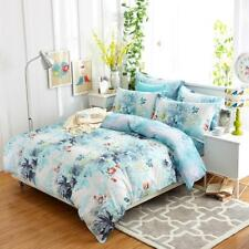 Pale blue with ink painting 4PC bed set Queen Size Cotton