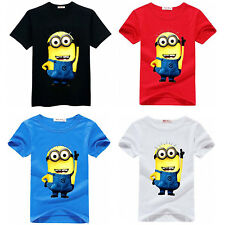 Kids Boys Despicable Me T-shirts Kids Minions Baby Tops T shirt Girls short Tees