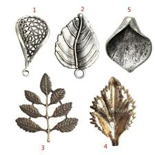10pcs Antique Design leaf Charms Pendant DIY Jewelry Crafts Materials Findings
