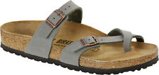 Birkenstock Mayari Birko-Flor Nubuck  Womens Shoes Slides Sandals Clogs - NEW