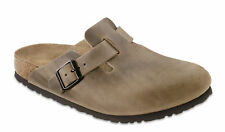 Birkenstock Boston Nubuck Leather Oiled Unisex Shoes Clogs Slippers Slides