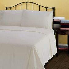 Ivory Solid One Fitted Sheet & Two Pillow Case 1000 TC 100% Cotton AU Size