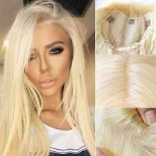 Luxury Peruvian Virgin Human Hair Lace Frontal Wig Blonde #613 With Baby Hair D5