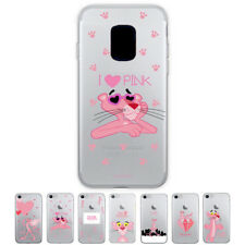 Coquad Pink Panther Jelly Protect Slim Thin Bumper Case For Samsung Galaxy Note4