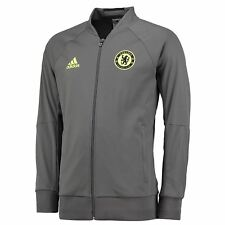 adidas Chelsea Anthem Jacket Mens Grey Football Soccer Track Top Tracksuit