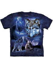 NEW NWT Howling Wolves Of The Storm - Thunderous Full Moon T-Shirt