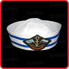 KIDS CHILDRENS/ADULTS NAVY SAILOR HAT-POPEYE-GOB-YACHT-BOAT-SEA-COSTUME-ANCHOR01