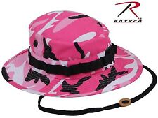 Pink & Black Camouflage Boonie Hat - Rothco Military Style Boonies w/ Chin Strap