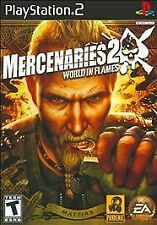 Mercenaries 2: World in Flames (Sony PlayStation 2, 2008)Rated T, Fast Shipping!