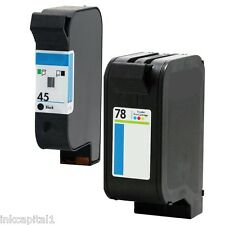 2 x Black & 2 x Colour Ink Cartridges Non-OEM Alternative For HP No 45 & no 78