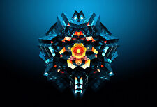 Kaleidoscopic Space Cube - Abstract Poster Print - Digital Art - Abstract Art