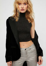 NEW Free People Intimately Seamless Glow Up Crop Top Black Sz XS/S-M/L $48.64