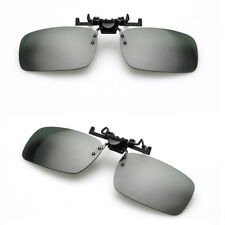 Polarized Day Night Vision Flip-up Clip-on Lens Driving Glasses Sunglasses Pop