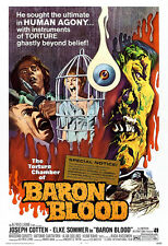 Baron Blood Movie Poster Print - 1972 - Horror - One (1) Sheet Artwork