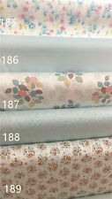 DY112622 Bulk 10m 30m 160cm Wide White Large Floral Check Cotton Twill Fabric